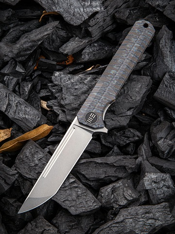 WE Knife 909D Syncro S35VN Titanium Framelock - Flame