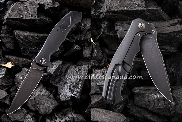 WE Knife 910D 037 Titanium Framelock Folder M390 - Black