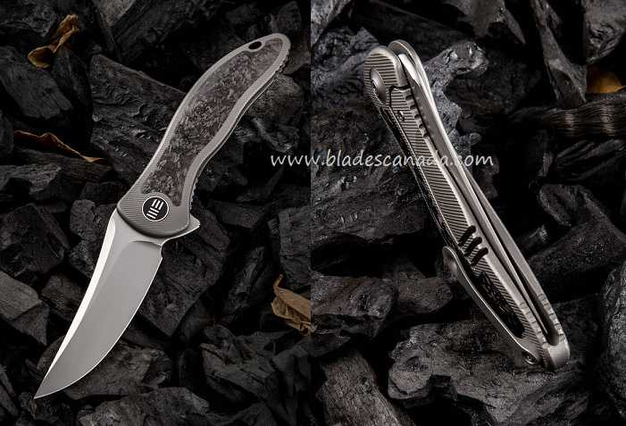WE Knife 912CF-A Synergy 2 Titanium Framelock - Carbon Fiber
