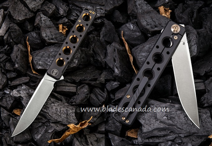 WE Knife 913A Miscreant S35VN Titanium Black w/ Gold