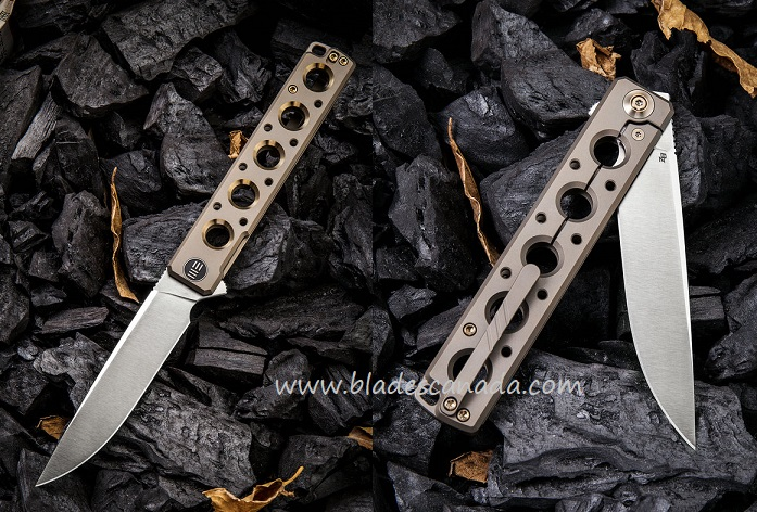 WE Knife 913B Miscreant S35VN Titanium Champagne w/ Gold (Online Only)