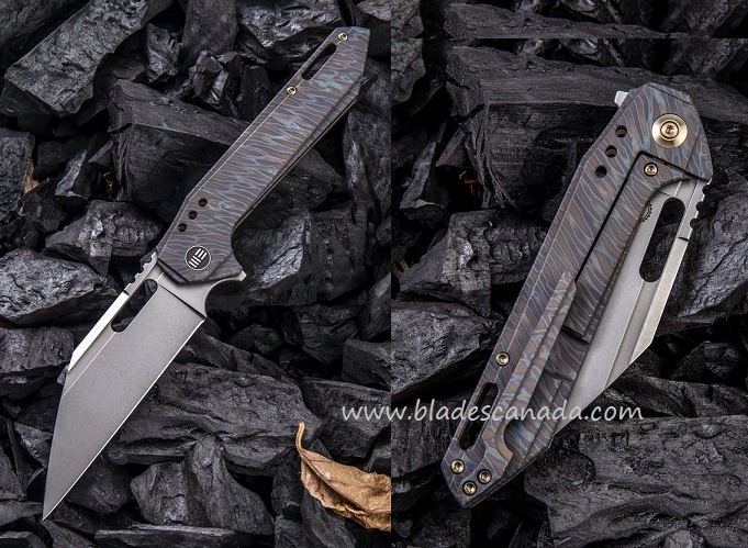 WE Knife 916A Roxi 4 S35VN Titanium Framelock Folder - Flame Ano