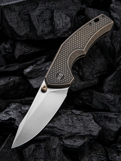 WE Knife 917A Gnar S35VN, Bronze Titanium Handle