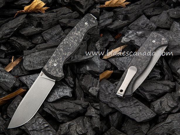 WE Knife 925D MRF Slip Joint S35VN, Shredded Carbon Fiber