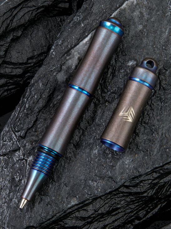 WE Knife TP-04A Syrinx Titanium Pen - Blue (Online Only)