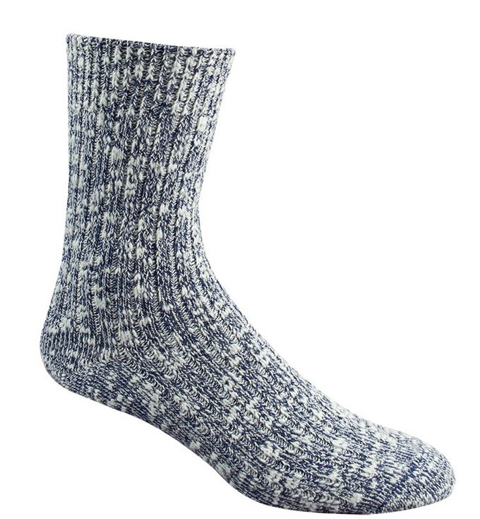 Wigwam 5301 Cypress Socks - White & Navy