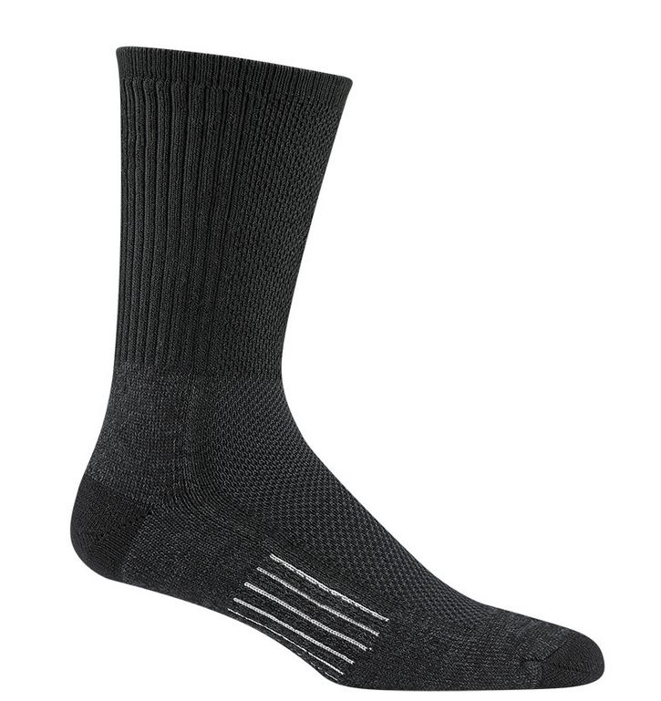 Wigwam 6067 Cool Lite Hiker Pro Crew Socks - Black & Charcoal