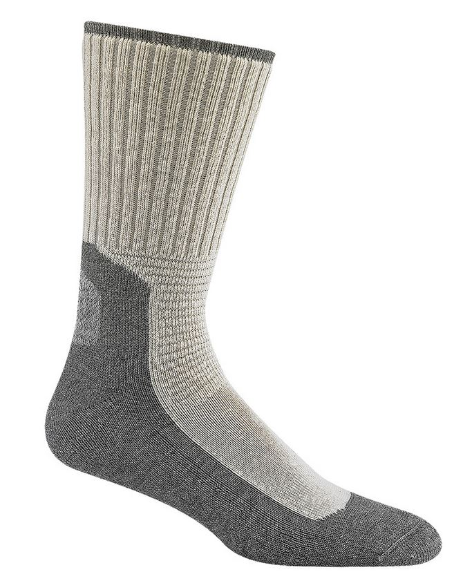 Wigwam 1349 At Work DuraSole Socks 2 Pack - White & Grey