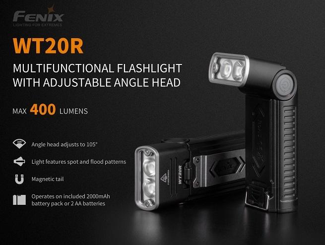 Fenix WT20R Rechargeable & Adjusteable Work Light- 400 Lumens
