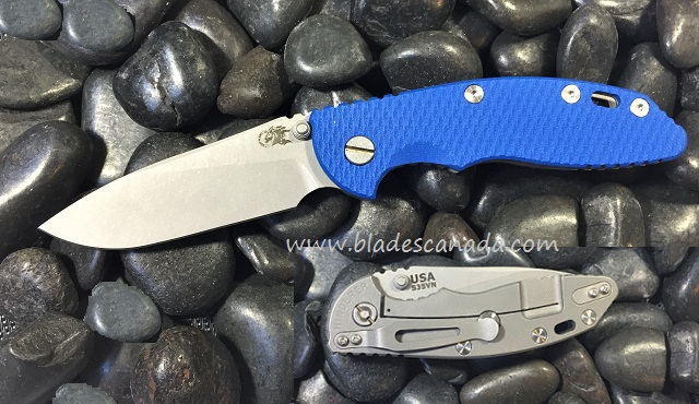 Hinderer XM-18 3.5 Slicer WF No Flipper - Blue G10