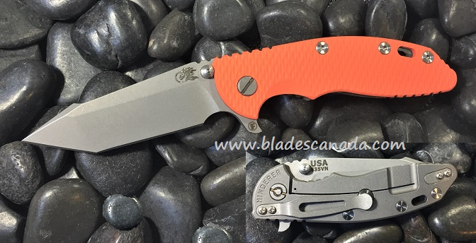 Hinderer XM-18 3.5 Fatty Harpoon Tanto WF - Orange G10