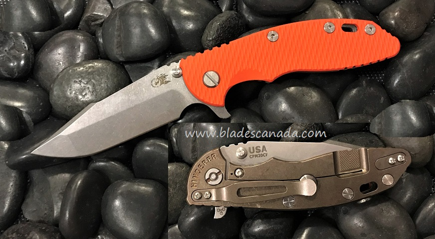 Hinderer XM-18 3.5 Gen 6 Harpoon Spanto SW - SW Bronze/ Orange G10
