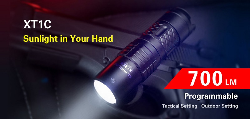 Klarus XT1C Flashlight - 700 umens