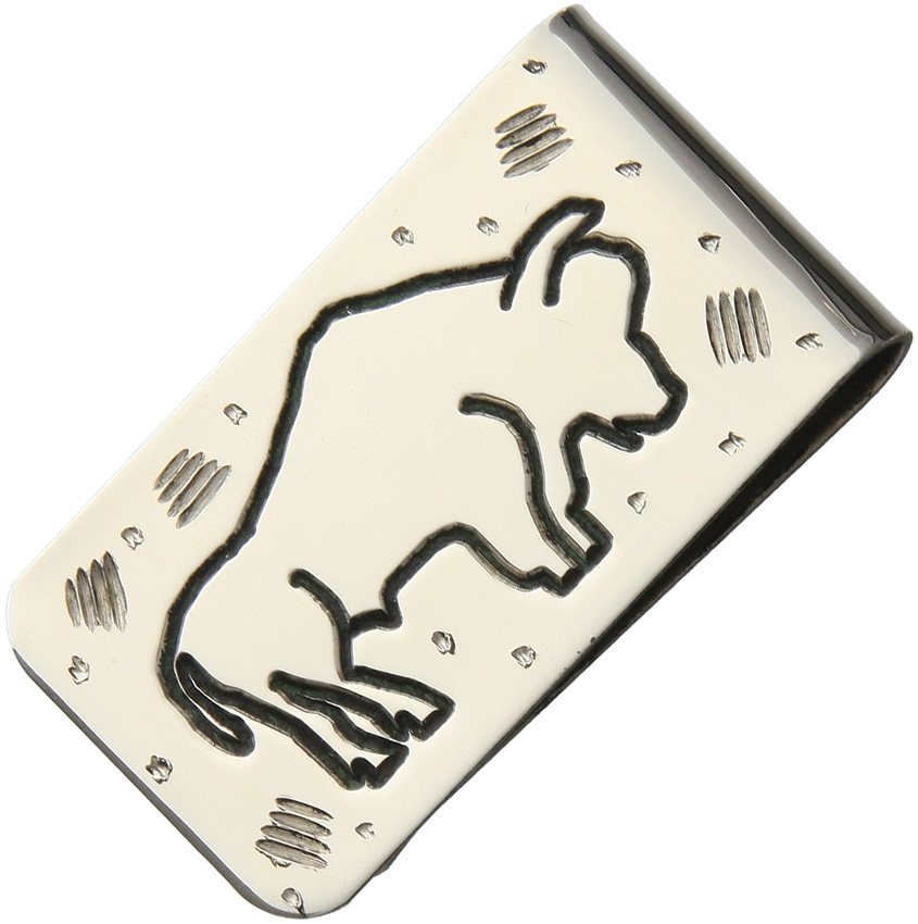 Brian Yellowhorse Stainless Steel Money Clip - Buffalo