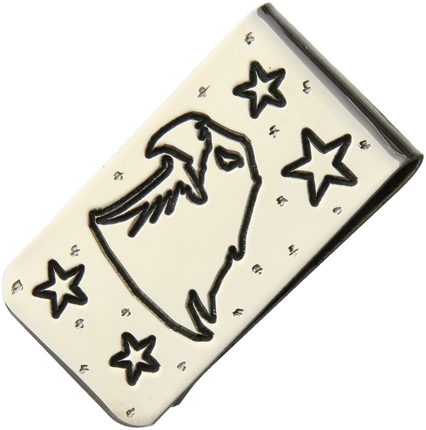 Brian Yellowhorse Stainless Steel Money Clip - Bald Eagle