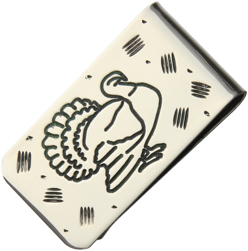 Brian Yellowhorse Stainless Steel Money Clip - Turkey