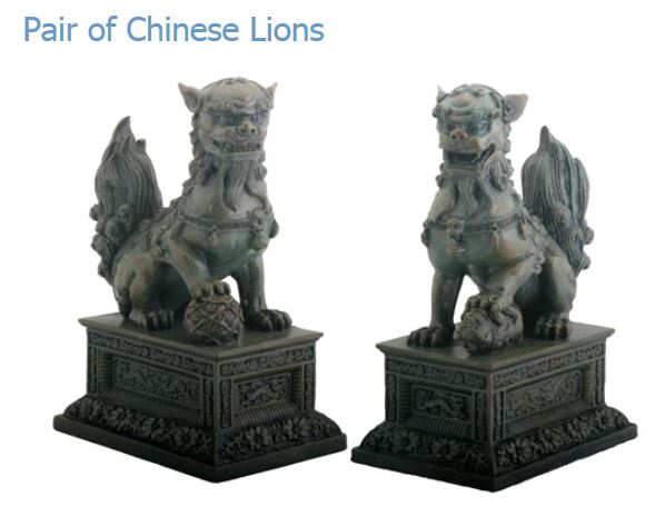 YTC Summit 5511 Pair Of Chinese Lions