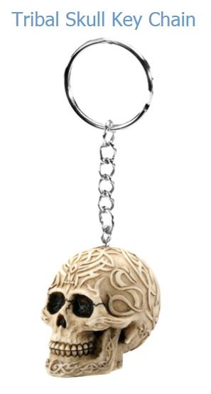 YTC Summit 6235 Tribal Skull Key Chain