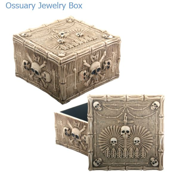 YTC Summit 6765 Skull Ossuary Jewelry Box