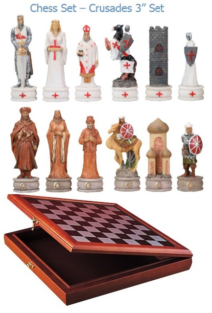 YTC Summit 7062 Crusades Chess Set