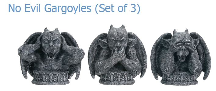 YTC Summit 7551 No Evil Gargoyle Set