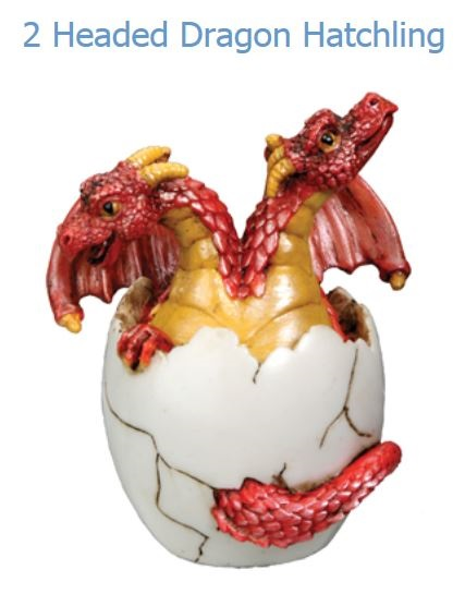 YTC Summit 7608 Two Headed Red Baby Dragon Hatching -Online Only