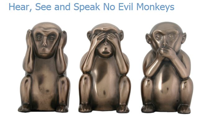 YTC Summit 8031 Hear, See, Speak No Evil Monkeys