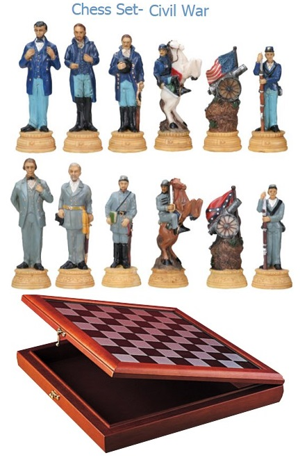 YTC Summit 7061 Civil War Chess Set with Board (Online Only)
