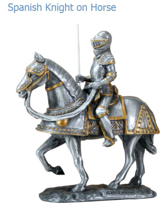 YTC Summit 8326 Spanish Knight on Horse Pewter Finish