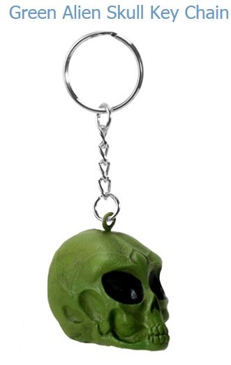 YTC Summit 8402 Green Alien Skull Key Chain