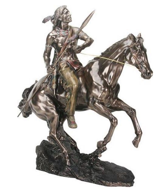 YTC Summit Native Warrior on Horse YTC8745 (Online Only)