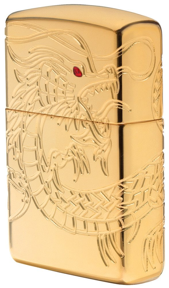 Zippo 29265 Engraved Chinese Dragon, Gold Plated