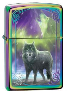 Zippo 29348 Anne Stokes Northern Lights Wolf