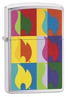 Zippo 29623 Abstract Colourful Flame