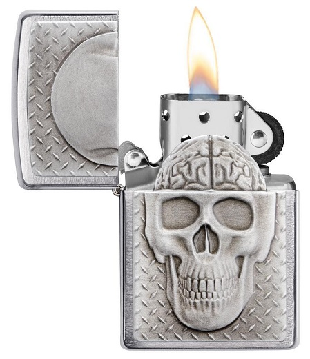 Zippo 29818 Skull with Brain Surprise