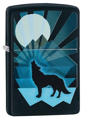 Zippo 29864 Wolf and Moon Design