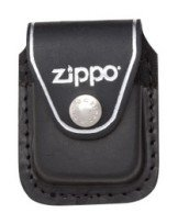 Zippo LPCBK Leather Lighter Clip Pouch - Black