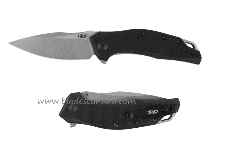 Zero Tolerance ZT357 20CV Stonewash, Black G10 - Assisted Opening